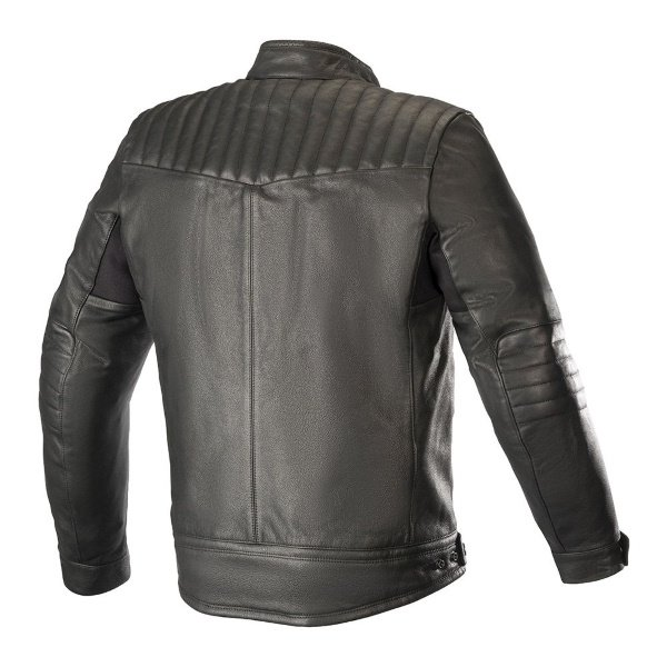 Alpinestars Crazy Eight LT Black Leather Motorcycle Jacket Back