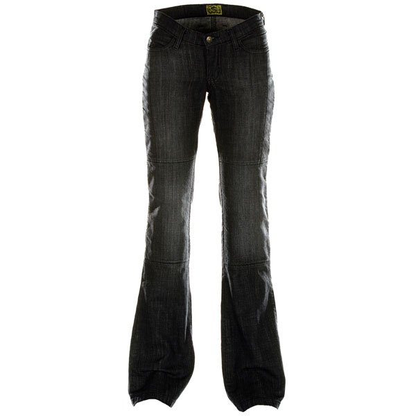 Draggin Minx Black Ladies Kevlar Denim Motorcycle Jeans Front