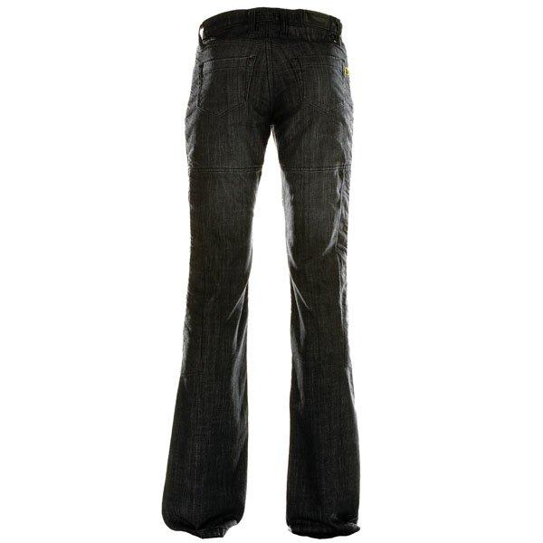 Draggin Minx Black Ladies Kevlar Denim Motorcycle Jeans Rear