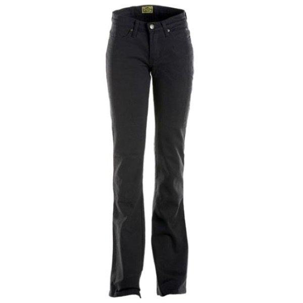 Draggin Skins Black Ladies Denim Motorcycle Jeans Front