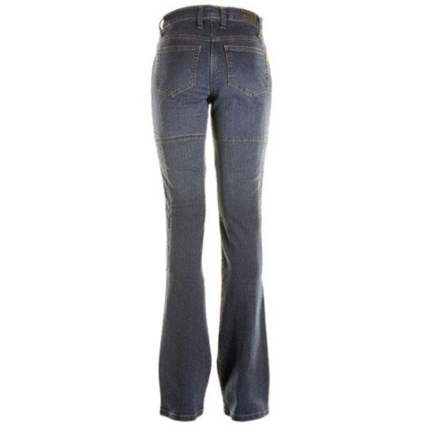 Draggin Skins Black Ladies Denim Motorcycle Jeans Rear