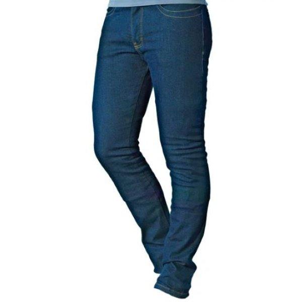 Draggin Jeans Twista Straight Blue Denim Motorcycle Jeans Front