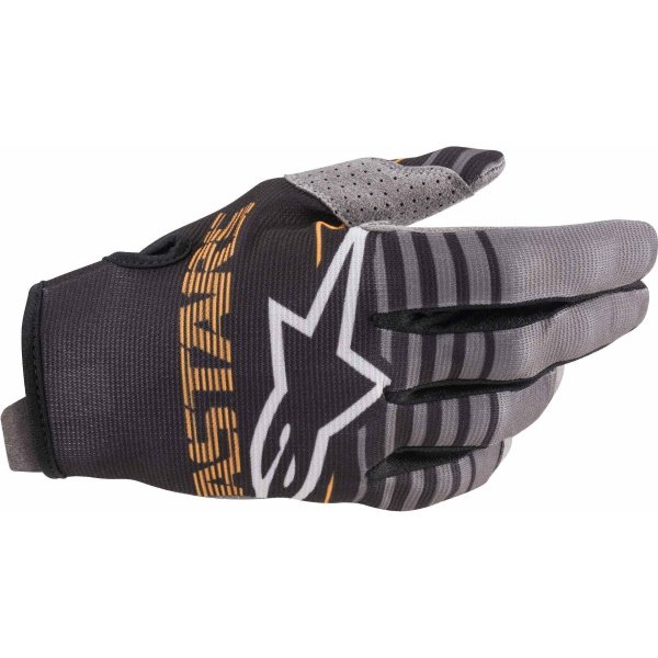 Alpinestars Radar Black Dark Grey MX Gloves Back