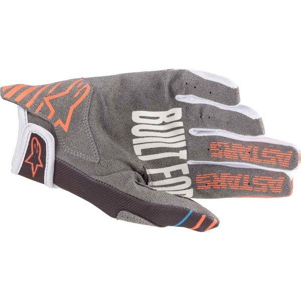 Alpinestars Radar Anthracite Orange Fluo MX Gloves Palm