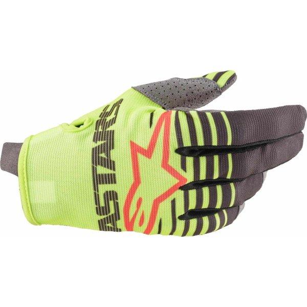 Alpinestars Radar Yellow Fluo Anthracite MX Gloves Back