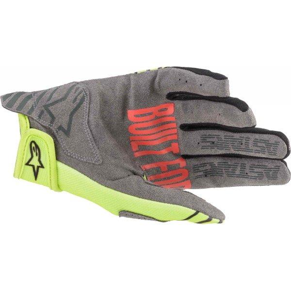 Alpinestars Radar Yellow Fluo Anthracite MX Gloves Palm