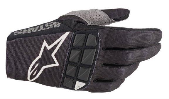 Racefend Gloves Black White Motocross Gloves