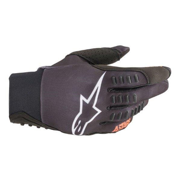 Alpinestars SMX-E Black White Motocross Gloves Back