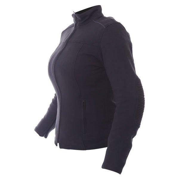 BKS Roxy Ladies Black Textile Motorcycle Jacket Side