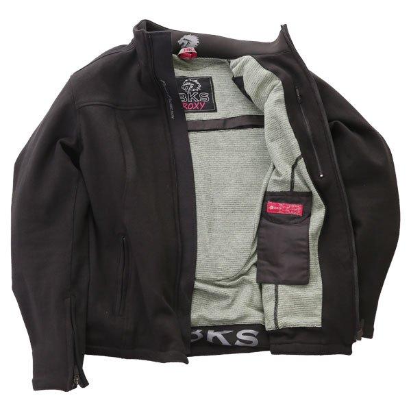 BKS Roxy Ladies Black Textile Motorcycle Jacket Inside