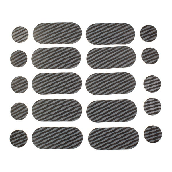 Carbon Look Spots And Stripes Tank Pads