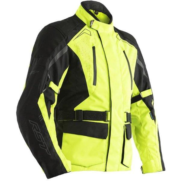 Rallye CE Mens Textile Jacket Flo Yellow Black RST Clothing