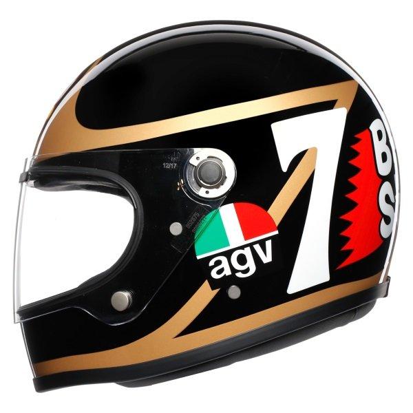 AGV X3000 Barry Sheene Replica Full Face Motorcycle Helmet Front Left