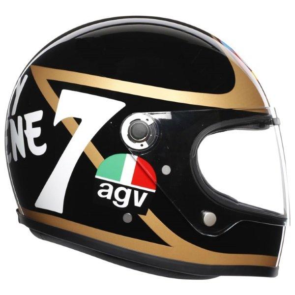 AGV X3000 Barry Sheene Replica Full Face Motorcycle Helmet Right Side