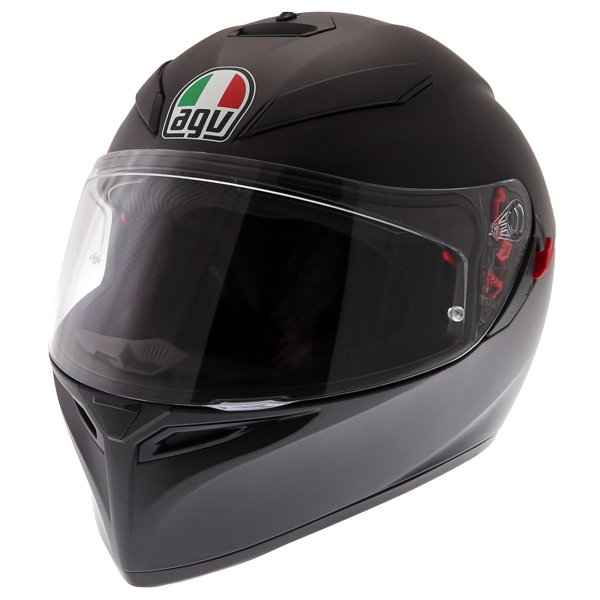 AGV K3 SV-S Matt Black Full Face Motorcycle Helmet Front Left
