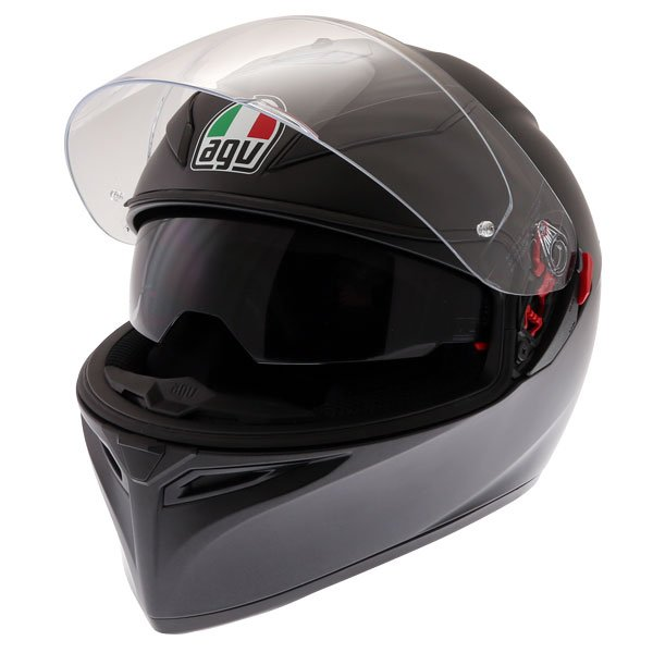 AGV K3 SV-S Matt Black Full Face Motorcycle Helmet Open With Sun Visor