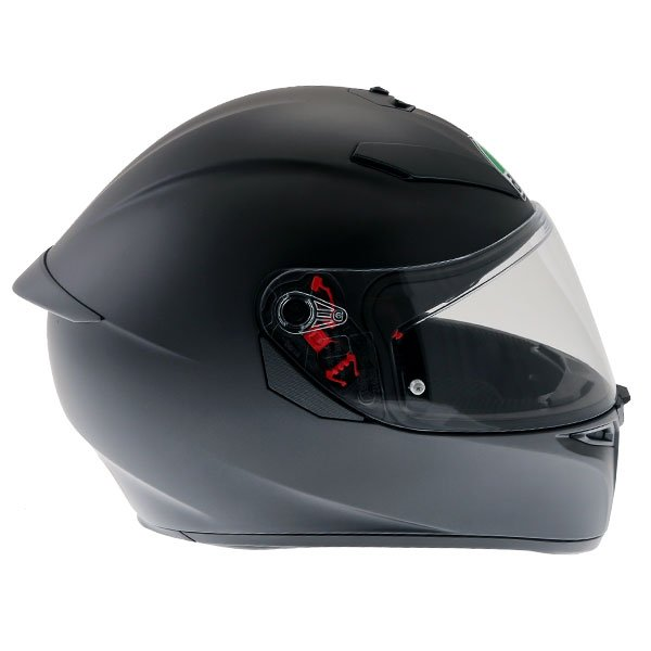 AGV K3 SV-S Matt Black Full Face Motorcycle Helmet Right Side