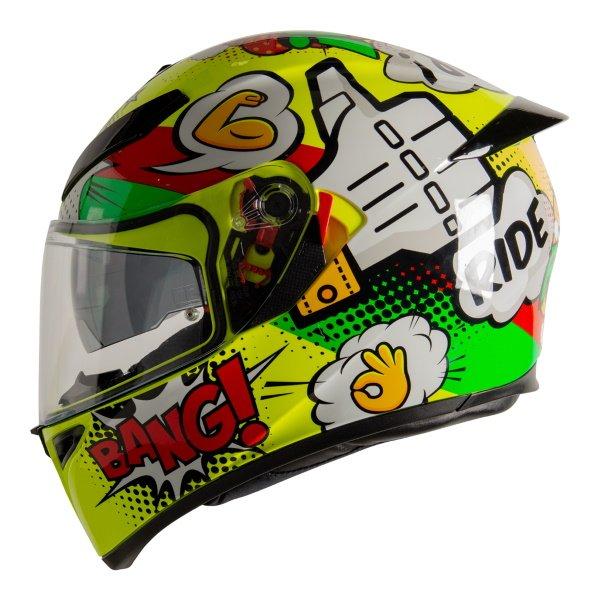 AGV K3 SV-S Wow Full Face Motorcycle Helmet Left Side