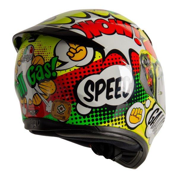 AGV K3 SV-S Wow Full Face Motorcycle Helmet Back Right