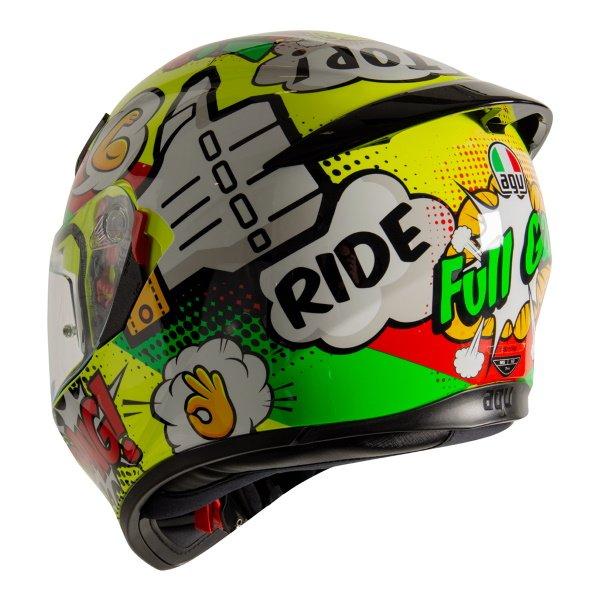 AGV K3 SV-S Wow Motorcycle Full Face Helmet Back Left