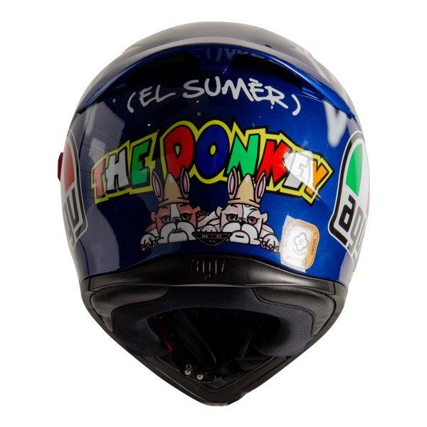 AGV K3 SV-S Donkey Full Face Motorcycle Helmet Back