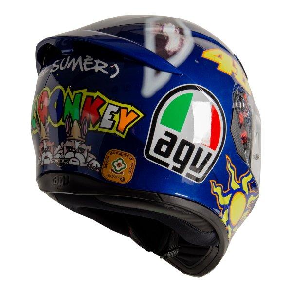 AGV K3 SV-S Donkey Full Face Motorcycle Helmet Back Right