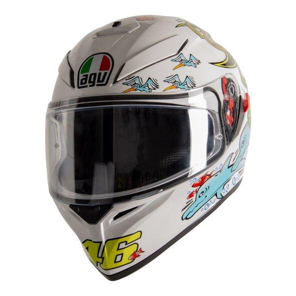AGV K3 SV-S White Zoo Full Face Motorcycle Helmet Front Left
