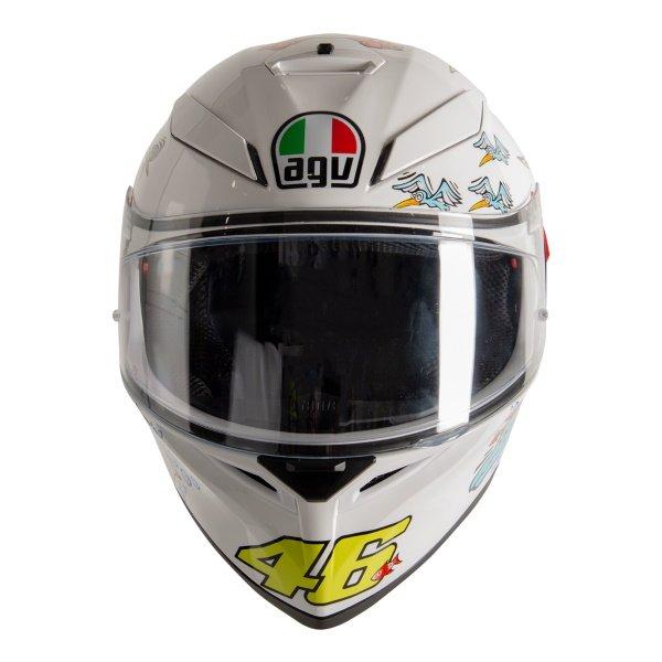AGV K3 SV-S White Zoo Full Face Motorcycle Helmet Front