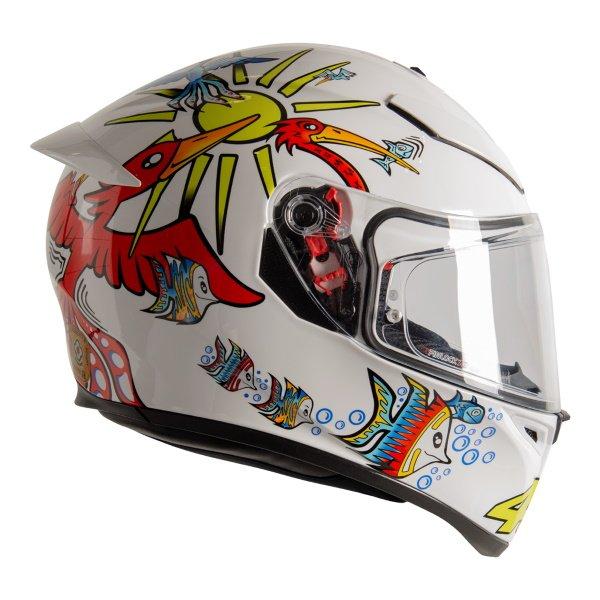 AGV K3 SV-S White Zoo Full Face Motorcycle Helmet Right Side