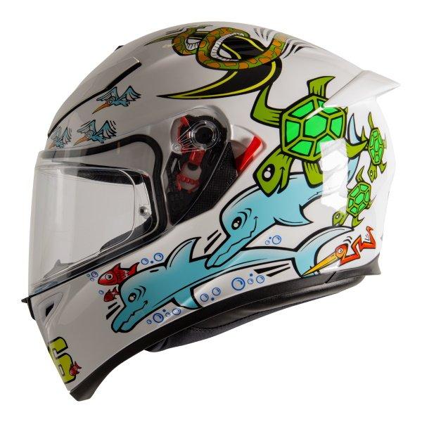AGV K3 SV-S White Zoo Full Face Motorcycle Helmet Left Side