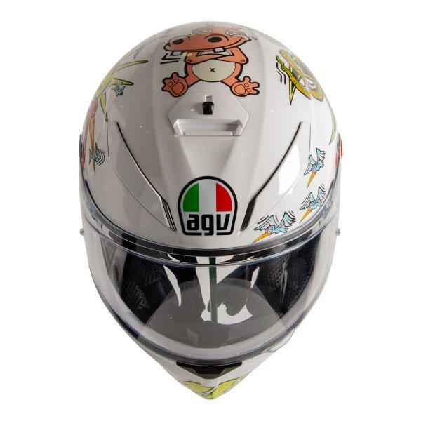 AGV K3 SV-S White Zoo Full Face Motorcycle Helmet Top