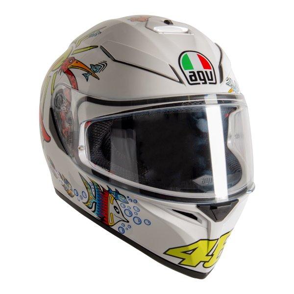 AGV K3 SV-S White Zoo Full Face Motorcycle  Helmet Front Right