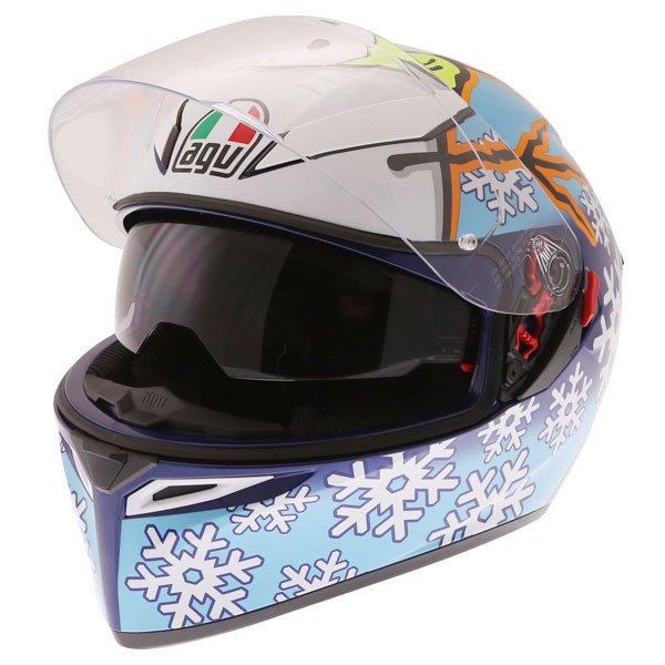 AGV K3 SV-S Winter Test Full Face Motorcycle Helmet Open With Sun Visor
