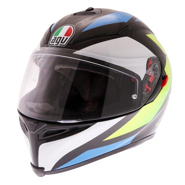 K5-S Core Helmet Black Cyan Yellow Fluo