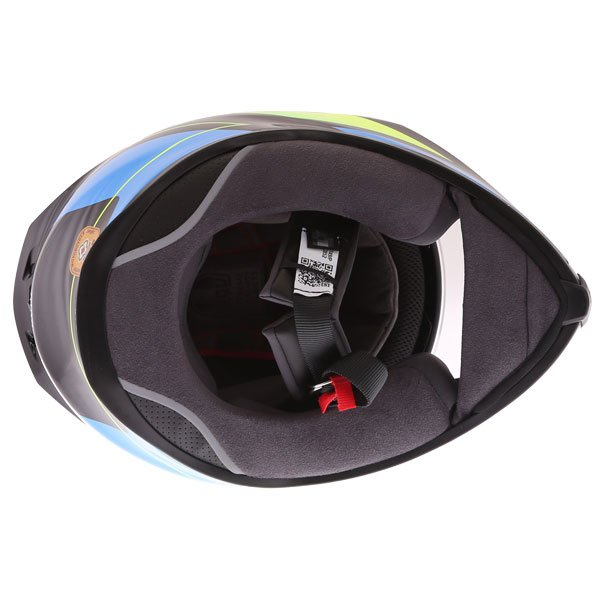AGV K5-S Core Black Cyan Yellow Fluo Full Face Motorcycle Helmet Inside