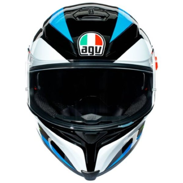 AGV K5-S Core Black Cyan Yellow Fluo Full Face Motorcycle Helmet