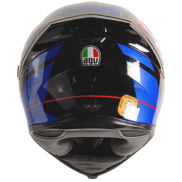 AGV K5-S Union Jack Full Face Motorcycle Helmet Back