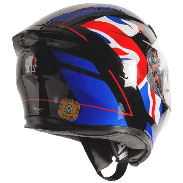 AGV K5-S Union Jack Full Face Motorcycle Helmet Back Right