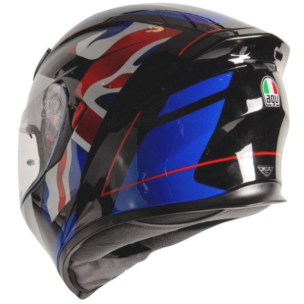 AGV K5-S Union Jack Full Face Motorcycle Helmet Back Left