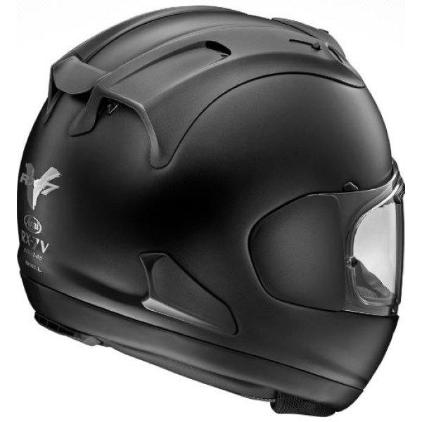 Arai RX-7V Race FIM Frost Black Full Face Motorcycle Helmet Back