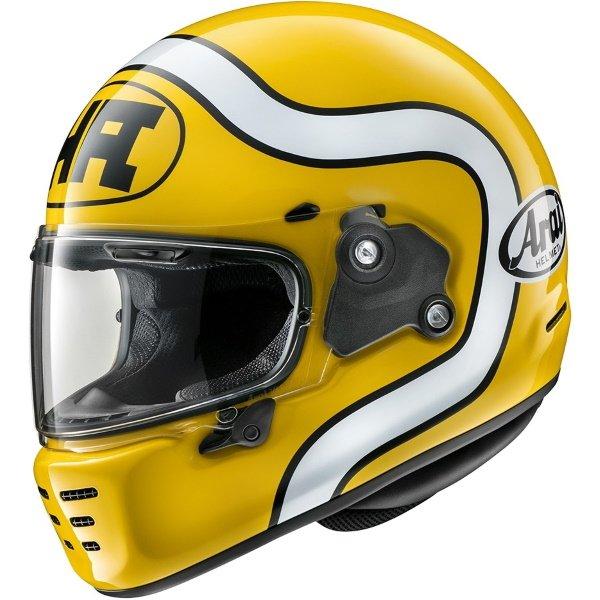 Arai Rapide HA Yellow Full Face Motorcycle Helmet Front Left