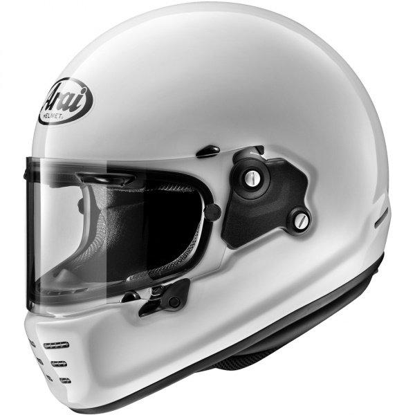 Arai Rapide White Full Face Motorcycle Helmet Front Left
