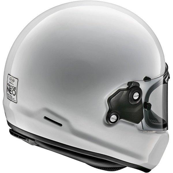 Arai Rapide White Full Face Motorcycle Helmet Back Right
