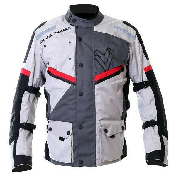 Legacy Jacket Light Gray Dark Grey Red Black Mens Motorcycle Clothing, Boots And Gloves