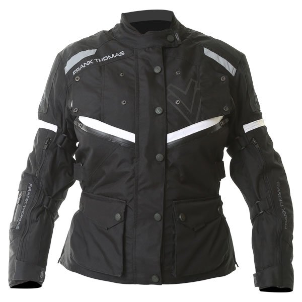 Legacy Ladies Jacket Black White Ladies Motorcycle Clothing, Boots And Gloves