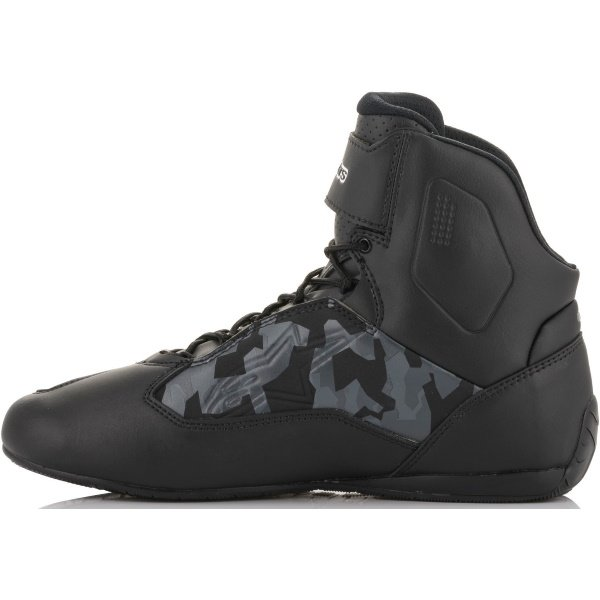 Alpinestars Faster-3 Shoes Black Grey Camo Red Fluo Size: UK 4