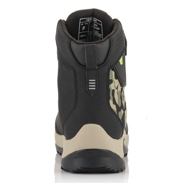 Alpinestars CR-6 Drystar Riding Shoes Black Military Green Camo Sand Size: UK 4