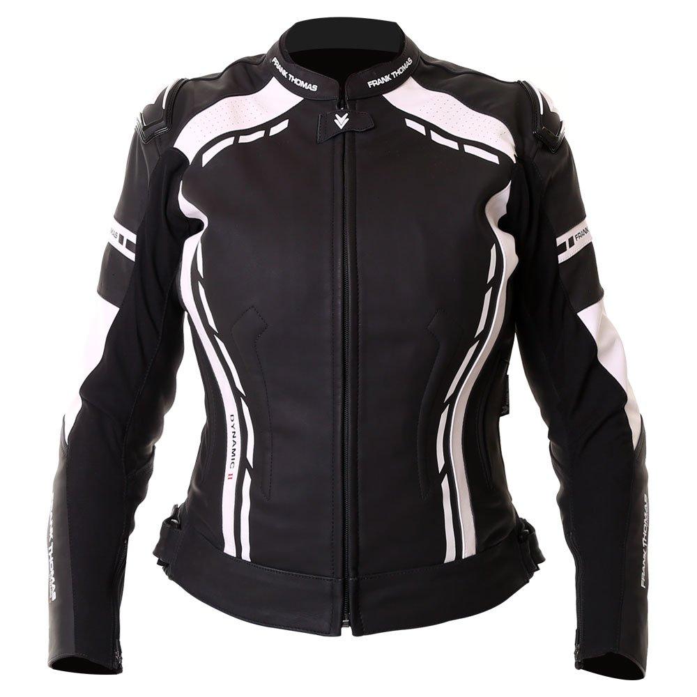 Dynamic II Ladies Jacket Black White Ladies Motorcycle Clothing, Boots And Gloves