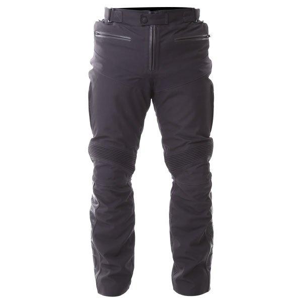 BKS Apache Laminate Black Textile Motorcycle Pants Front