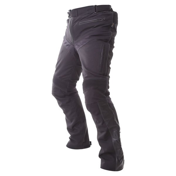BKS Apache Laminate Black Textile Motorcycle Pants Side